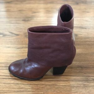 Vince Camuto brown leather booties - sz 7.5